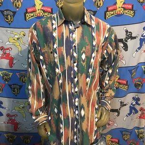 Vintage Faded Western Cowboy Shirt Size XL